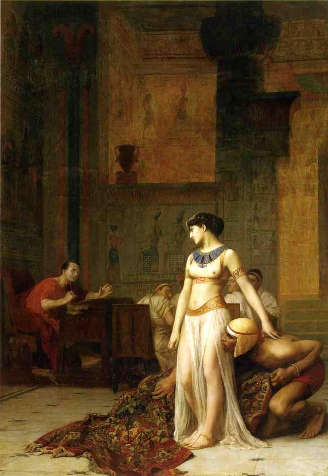 Cleopatra and Julius Caesar. Painting by Jean-Léon Gérôme